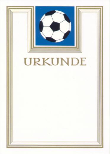 Urkunde Fussball Emblem Mit Golddruck